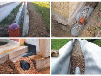 Дренаж участка, системы дренажа, водопонижение